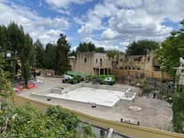 Croc Drop Construction, 2nd August 2020, Chessington World of Adventures Resort