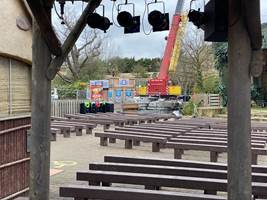 Croc Drop Construction, 15th February 2020, Chessington World of Adventures Resort