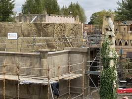 Croc Drop Construction, 17th October 2020, Chessington World of Adventures Resort