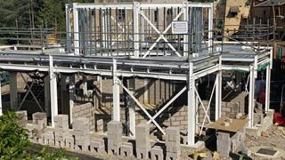 Croc Drop Construction, 20th August 2020, Chessington World of Adventures Resort