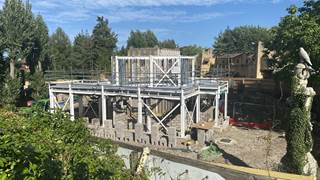 Croc Drop Construction, 20th August 2020, Chessington World of Adventures Resort