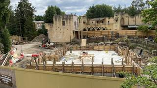 Croc Drop Construction, 4th July 2020, Chessington World of Adventures Resort